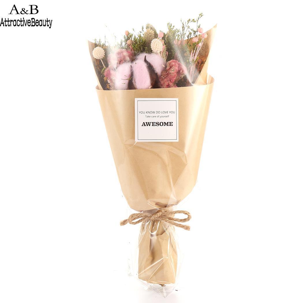 Acheter Lumières Fleur Bouquet avec LED Nouvelle Main dans une Boîte Cadeau Décoration de La Maison et Cadeaux du Jour de Valentine de Artificielle et Fleurs Séchées fiable fournisseurs