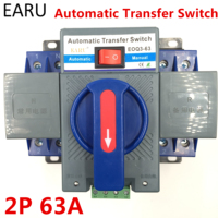 2P 63A 230V MCB Type Dual Power Automatic Transfer Switch ATS ATSE For Generator Photovoltaic PV