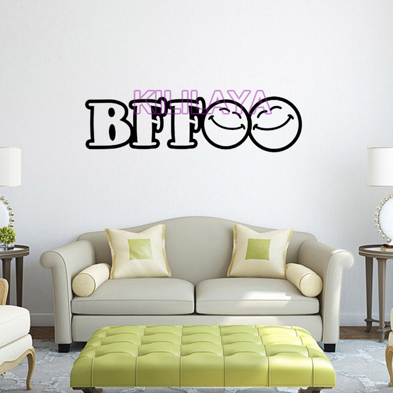 BFF Best Friends Forever Vinyl Wall Sticker For Kids Teens Children Room Art Wallpaper Home Decor Decal Decoration In Stickers From