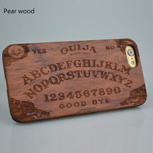 For iphone 7 6  6S plus 5S SE Samsung NEW Real Wooden Cherry Wood Phone Case Ouija Board High Quality Cover Hard Back Protector