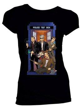 Doctor Who Classic Womens T-Shirt 4 Doctors Band T Shirt Fashion Colorful for New Fashion Style Harajuku Top Tee Harajuku