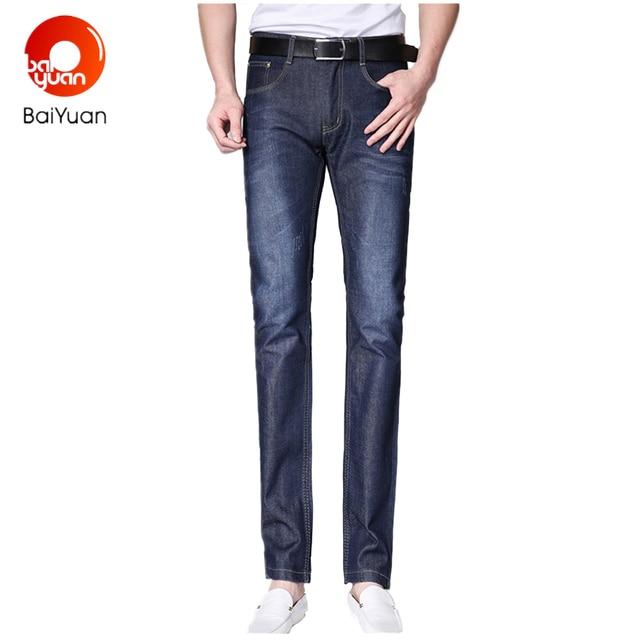 db57e4a821 2017 Marca de Moda Flaco Vaqueros Slim Fit para Hombre Pantalones de  Mezclilla de Los Hombres