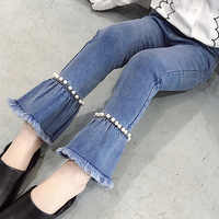 2018 Big Girl Jeans Denim Pants Children Jeans Teenager Boot Cut Trousers Clothes for Girls 12 Years Vetement Enfant Fille 4-13Y