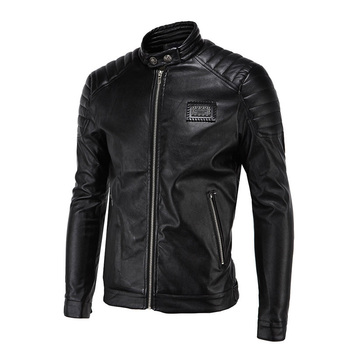 PU Leather Vintage Moto Faux Jacket 1