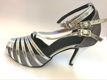 New Ladies Girls Grey Glitter Salsa Ballroom Dance Shoes Latin Dance Shoes Mambo Dancing Shoes