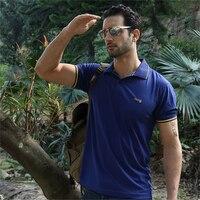남성 여름 캐주얼 폴로 셔츠 솔리드 패션 짧은 소매 Camisa 폴로 Masculino 자수 로고 최고 티 Eur 크기 브랜드 의류