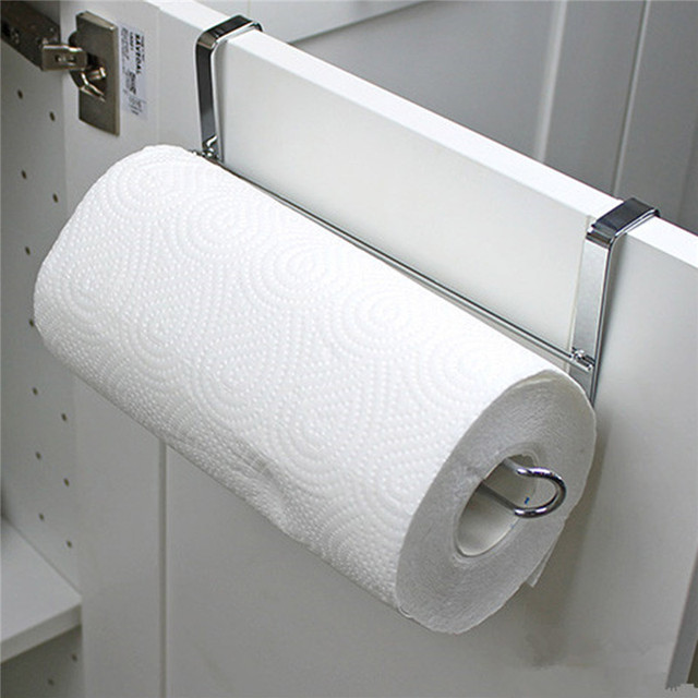 Non-folding single kitchen paper towel rack for toilet bathroom storage storage racks hanging paper towel holder stand