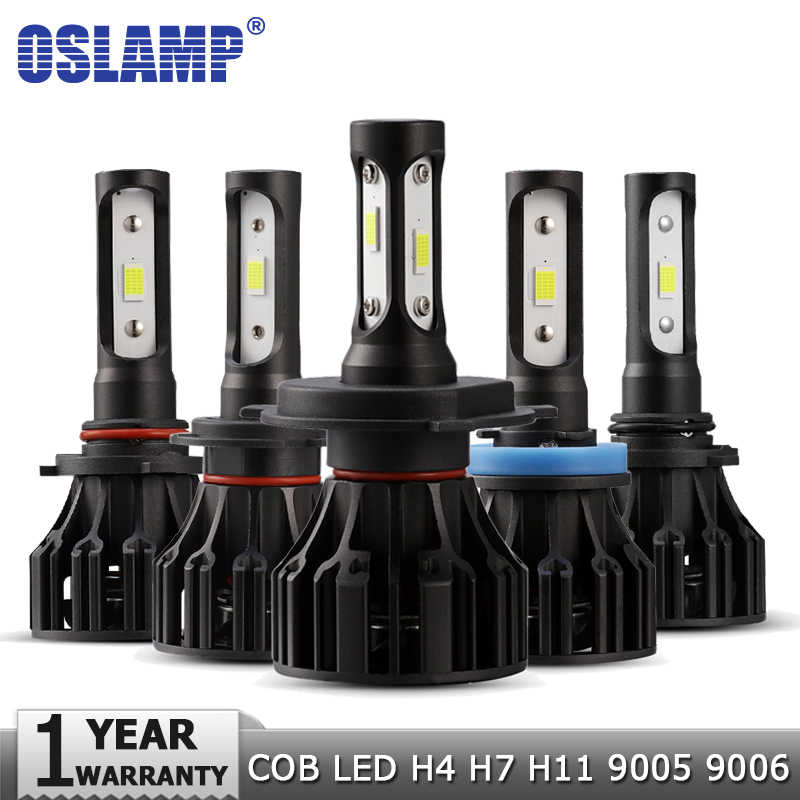 Oslamp H4 H7 H11 H1 H3 9005 9006 LED Headlight Bulbs Car Light Bulb Hi-Lo Beam COB 72W 8000lm Auto Headlamp Led Light 12v 24v