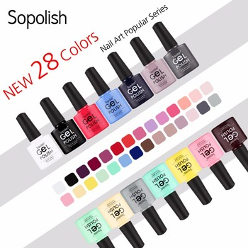 Sopolish Gel varnish UV Colors Vernis Semi Permanent Manicure Top Base Coat hybrid Nail Art soak off Rosalind Gel Nail Polish