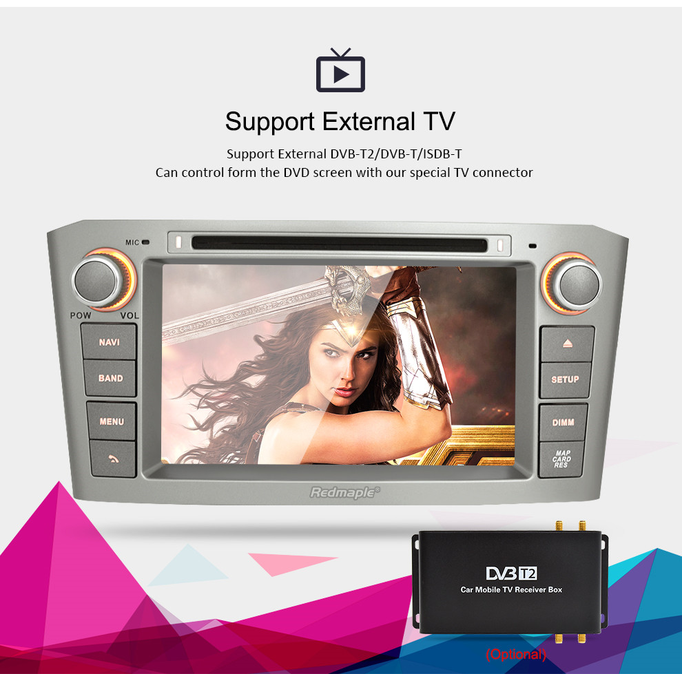 Image 3 - 7'' IPS 4G RAM Android 8.0 Car DVD GPS Navigation Player For Toyota Avensis/T25 2003 2008 WIFI FM Video Radio Stereo Multimedia-in Car Multimedia Player from Automobiles & Motorcycles