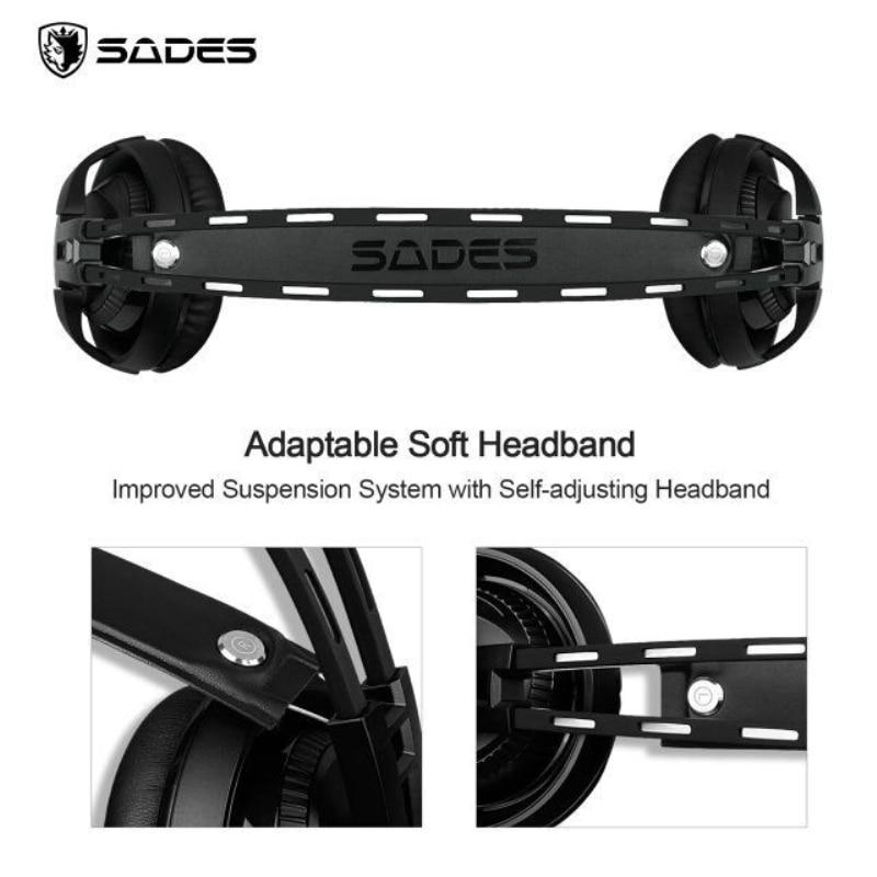Sades r2 gaming headset stereo ses bilgisayar kulaklık usb solunum - Taşınabilir Ses ve Görüntü - Fotoğraf 4