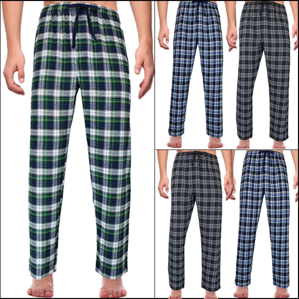 HOT Men/'s Plaid Flannel Lounge//Pajama PJ Pants Size M-2XL Bottoms Casual Pants