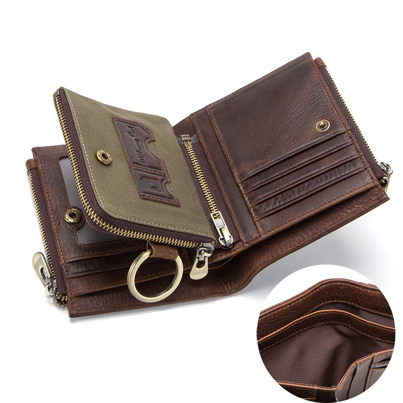 CONTACT'S 100% cow leather men's wallet RFID male portmane short cuzdan mens card holders coin purse cartera hombre man's walet 4