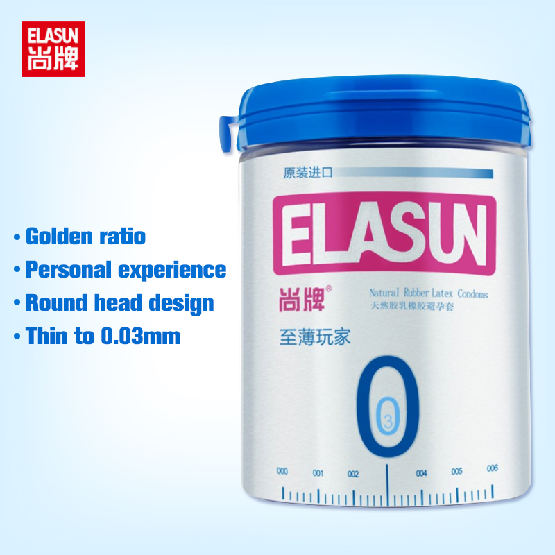 Elasun 12Pcs/Box Top quality Ultra Thin 0.03mm condom Funny Safe Latex Rubber Dotted Ribbed Condoms For male female Sex Products image