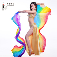 High Quality 100 Silk Stage Performance Props 1 Pair Dancing Silk Bamboo 200cm Long Silk Veils