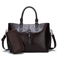 Genuine Leather Bag Handbags Tassels Shoulder Bag Fashion Women Handbags leather Large Capacity shopper bags for women 2019 C821