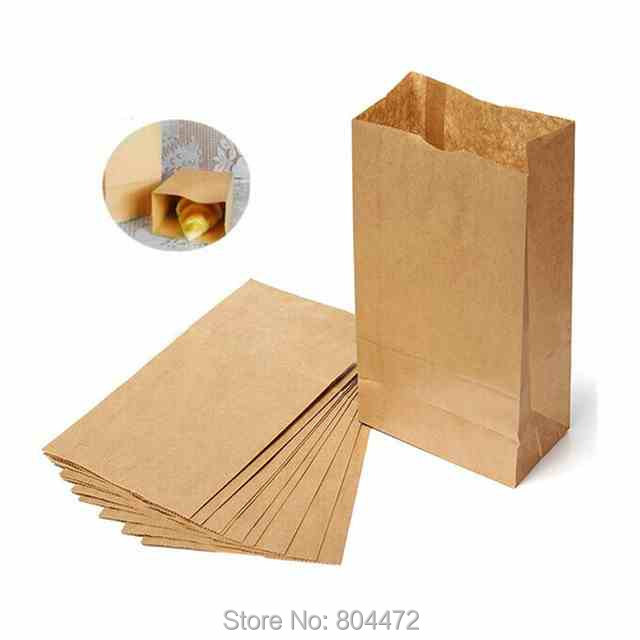 Set Of 100pcs Lot Brown Kraft Paper Bags Recyclable Gift Jewelry Food Bread Candy Packaging Ping Party For Boutique In Wring