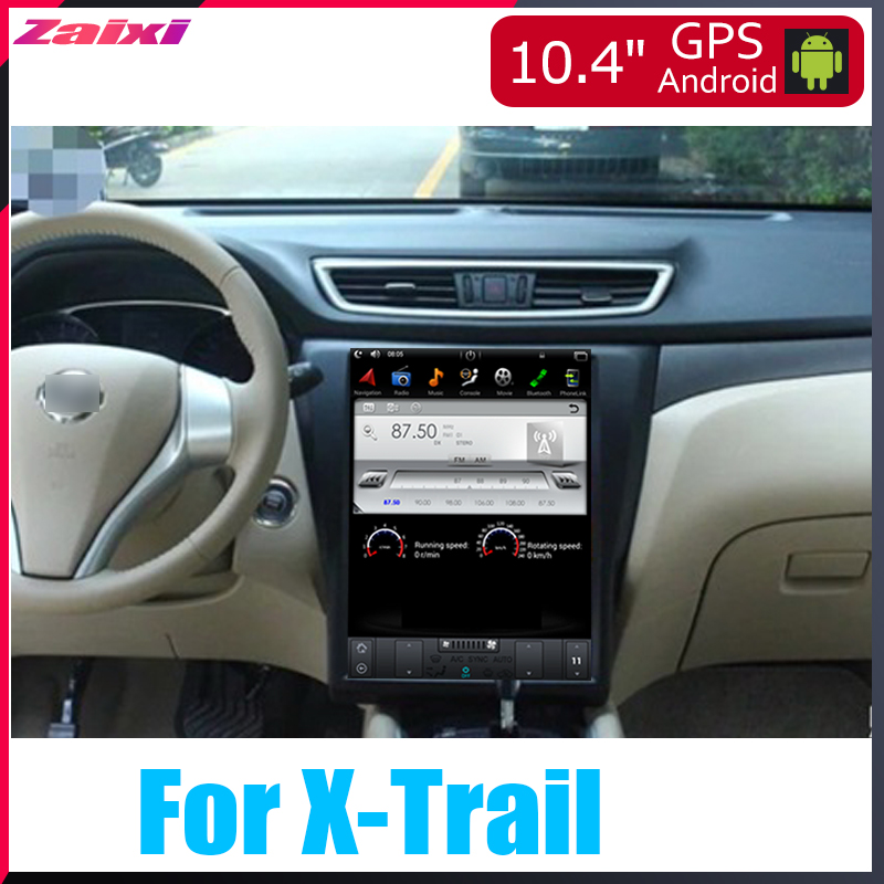 ZaiXi 10 4 quot Tesla Type Android For Nissan X Trail 2013 2019 Car Android DVD Player Navigation GPS Radio Multimedia system in Car Multimedia Player from Automobiles amp Motorcycles