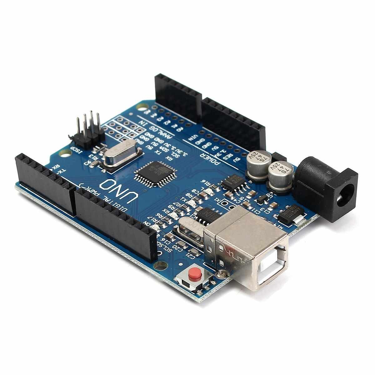 1PC CNC Shield + UNO R3 Board + 4 X DRV8825 Driver Kit For Arduino 3D Printer Module Board New Wholesale