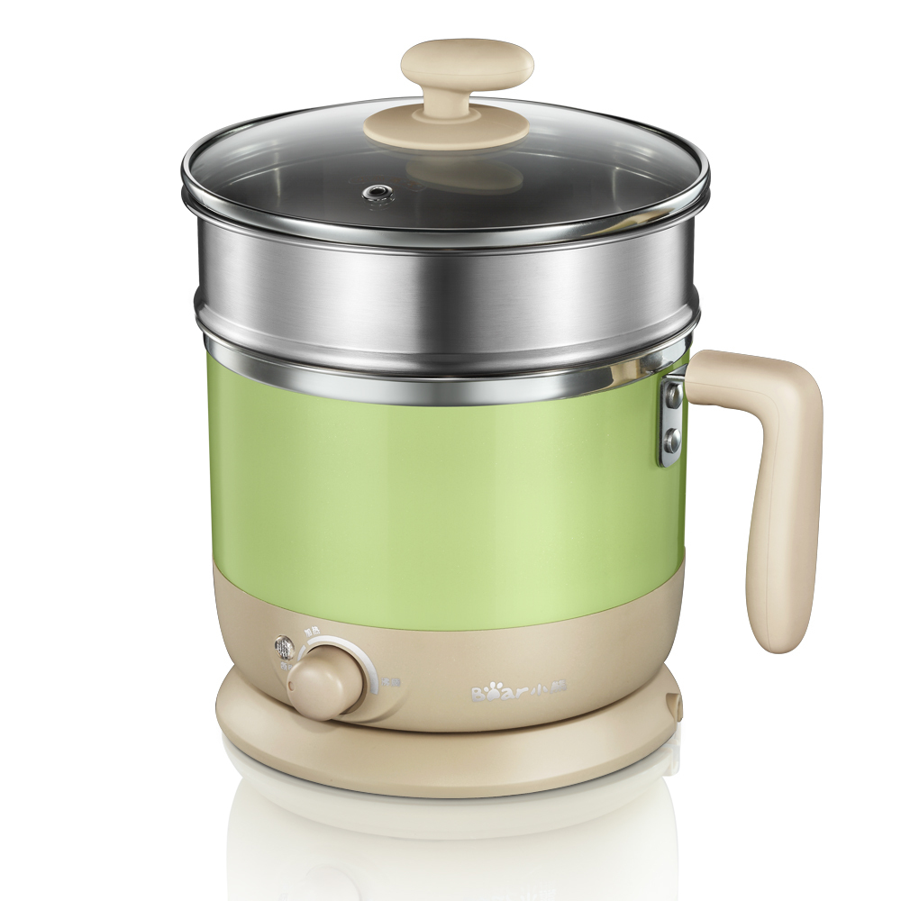 WUXEY Mini Electric Hot Pot Student Dormitory Pot Double Layer Food Steamer Household Multifunctional Noodles Cooking Pot electric lunch box double layer stainless steel liner cooking lunch boxes multifunction plug in lunch box steamed rice steamer