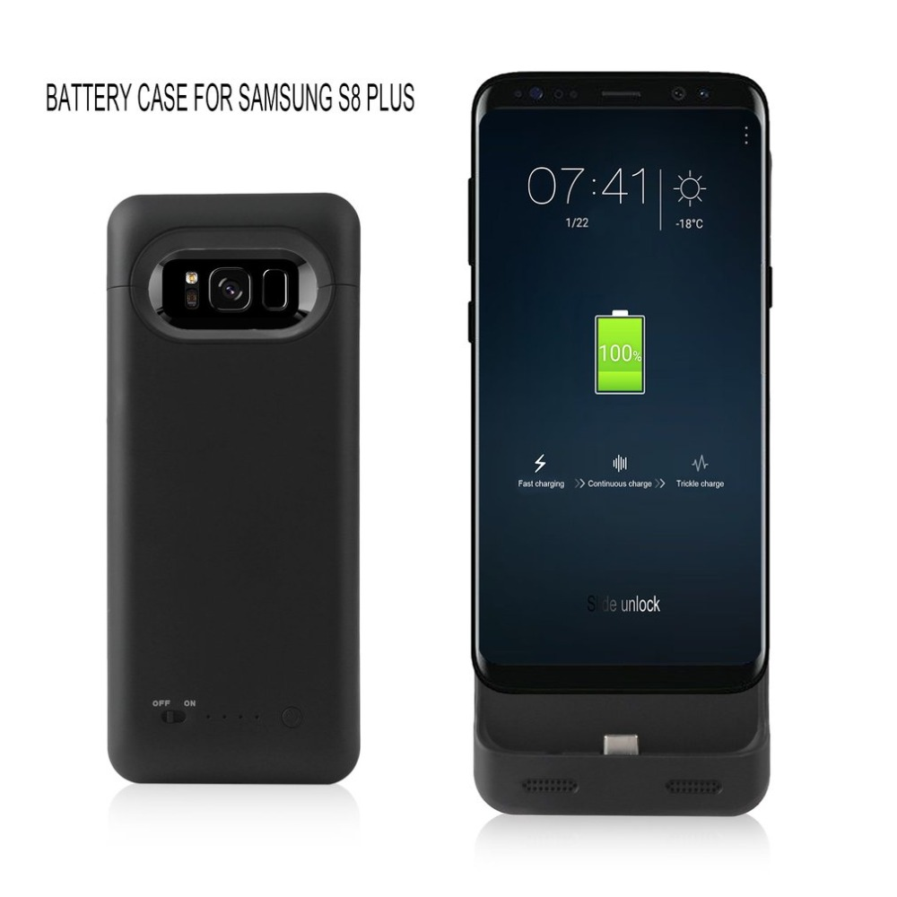 Aigo Power Bank 5500mAh External Battery Cases for Galaxy S8 Plus Portable Backup Battery Power bank for Samsung Galaxy S8 Plus