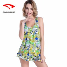 цены SWIMMART swimwear women spa beach swimwear new one-piece swimsuit large size meat slimming sexy print swimsuit push up swim suit