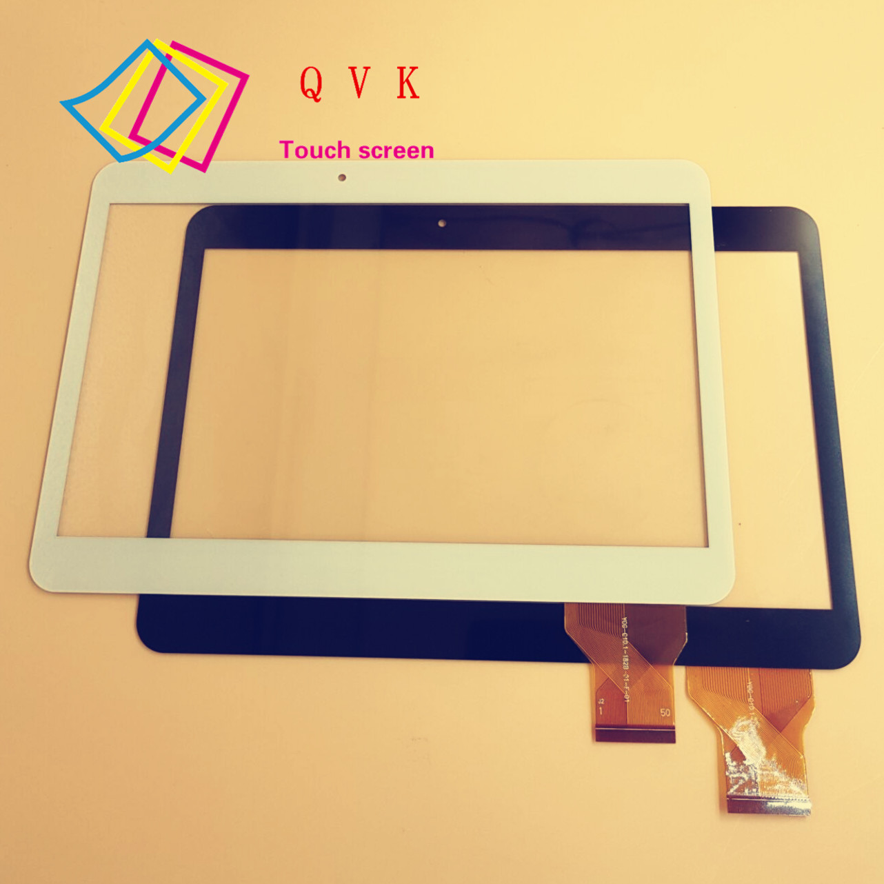 Black white For IRBIS TZ11 TZ12 10.1inch tablet pc capacitive touch screen panel digitizer glass VTC5010A28-FPC-1.0 replacement lcd digitizer capacitive touch screen for lg vs980 f320 d801 d803 black