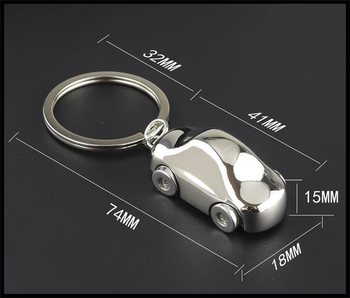 High quality car keychain aluminum alloy personality model wear for BMW series E38 E65 E66 F01 F02 4 F32 F33 F36 F82 M4 image