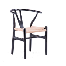 Скандинавская цельная древесина обеденный стул Y стул столовая стул Досуг Массивная древесина стул современные минималистский необычный стул