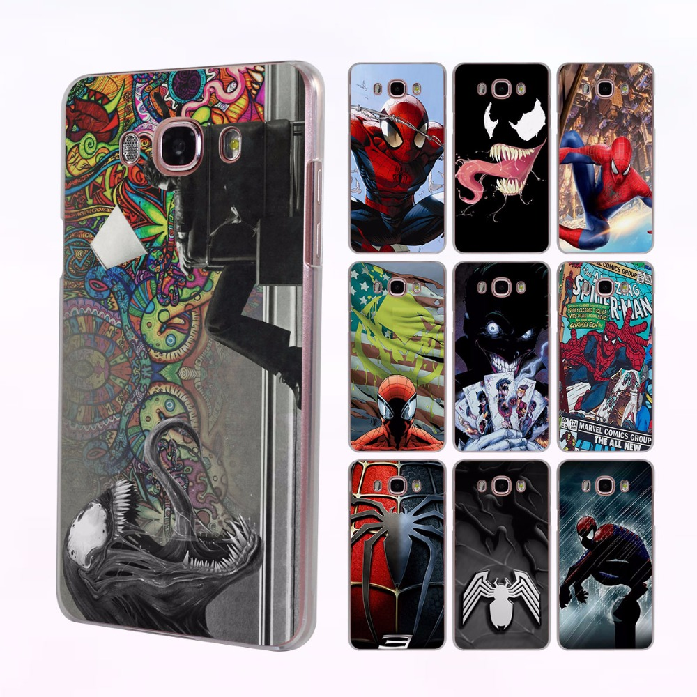 <font><b>Comics</b></font> SuperHero <font><b>Spider</b></font> <font><b>Man</b></font> venom joker Style hard clear <font><b>Case</b></font> Cover for <font><b>Samsung</b></font> <font><b>Galaxy</b></font> J510 J710 J7 J5 2017 J2 Prime J3 J1