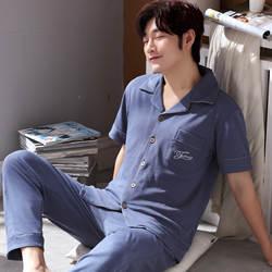 Плюс Размеры L-3XL100 % хлопчатобумажные пижамы Мужские pijama hombre masculino с коротким рукавом повседневные мужские пижамы pijamas пижамы наборы для