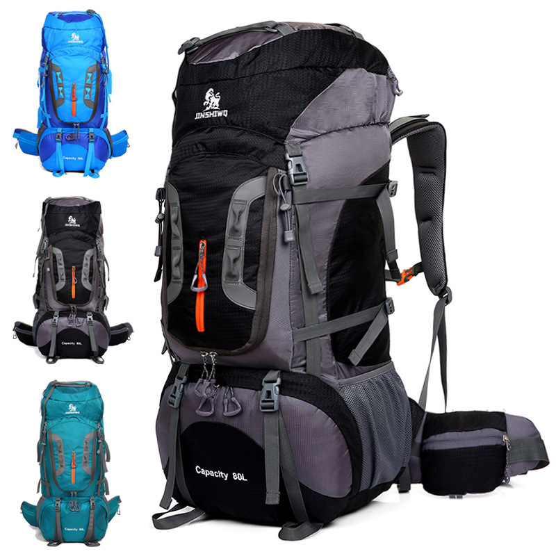 80L New Waterproof Climbing Hiking Backpack Camping Mountaineering Backpack Outdoor Double Shoulder Bag Travel Bag Waterproof tactical bag 50l 33 30 8cm big volume backpack outdoor double shoulder backpack waterproof military bag hiking camping backpack