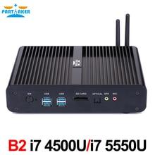 Окна Мини-ПК Core i7 4500u 4558u 5550u HTPC Intel NUC Безвентиляторный Компьютер бродуэлл Графика HD 5500