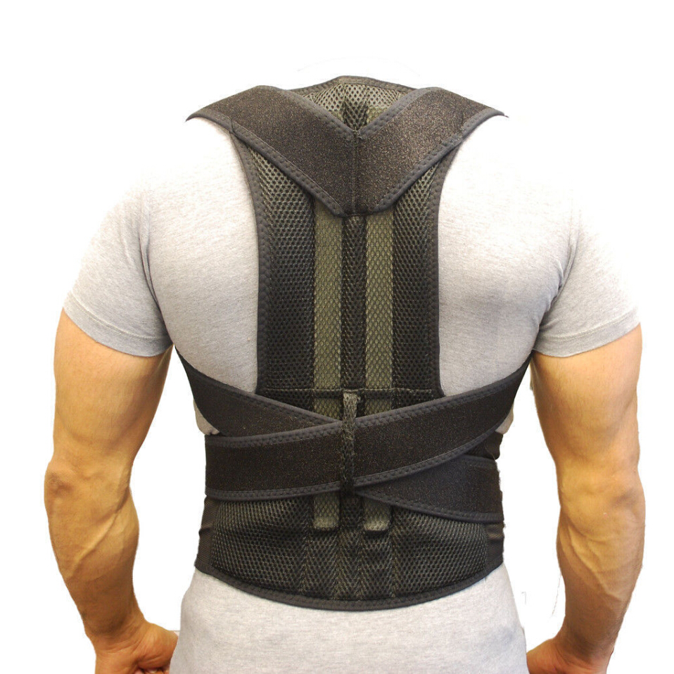 Back Support Belt Orthopedic Posture Corset Back Brace Support Men Back Straightener Round Shoulder Men's Posture Corrector B003