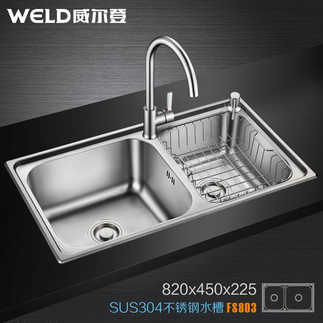304 slot stainless steel kitchen sink basin package 803 size ...