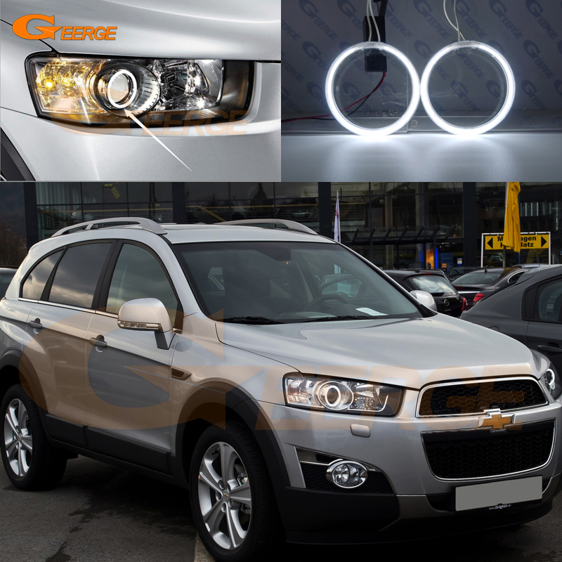 For Chevrolet Captiva 2012 2013 2014 2015 2016 Excellent angel eyes Ultra bright illumination CCFL Angel Eyes kit Halo Ring купить недорого в Москве