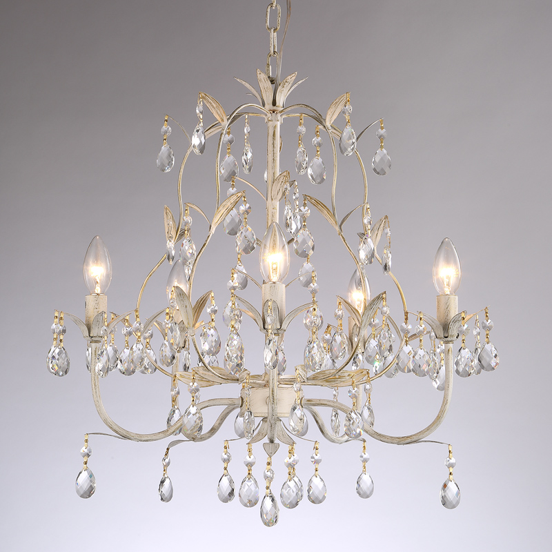 American country  White crystal pendant light living room dining room bedroom vestibule candle iron art crystal lamps ZA9071 a1 master bedroom living room lamp crystal pendant lights dining room lamp european style dual use fashion pendant lamps