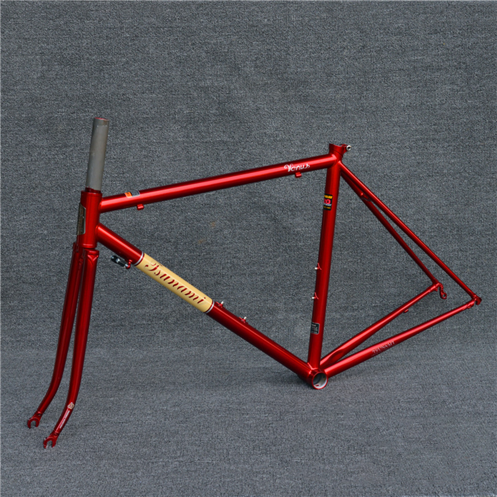 TSUNAMI 520 with 4130 CR-MO Steel Road Bike Frame Fork 700C Classic Frameset Painted