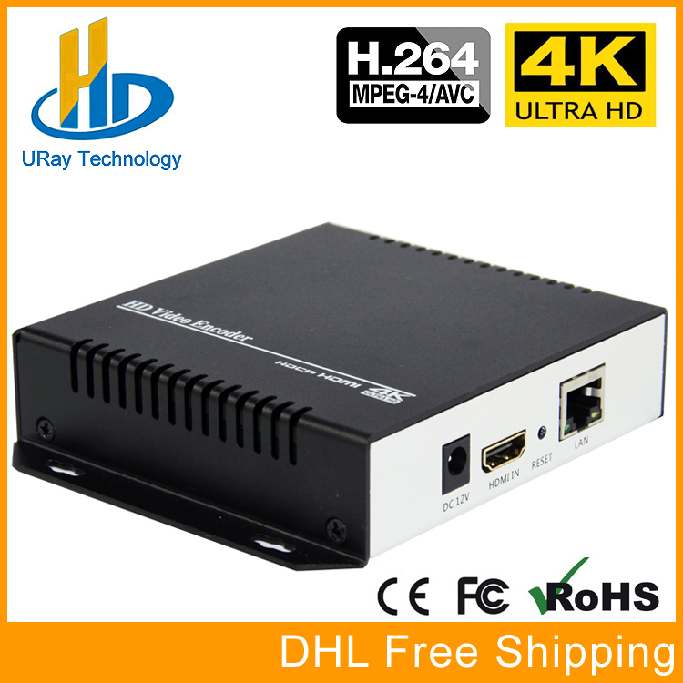 URay 4K Ultra HD HDMI To IP Video Encoder H.264 IPTV Encoder Live Streaming Encoder H264 Server With RTSP UDP HLS RTMP