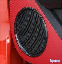 Lapetus Seite Auto Tür Stereo Lautsprecher Audio Sound Abdeckung Trim Carbon Faser Stil Fit Für Ford Mustang 2015 2016 2017 2018 2019 ABS