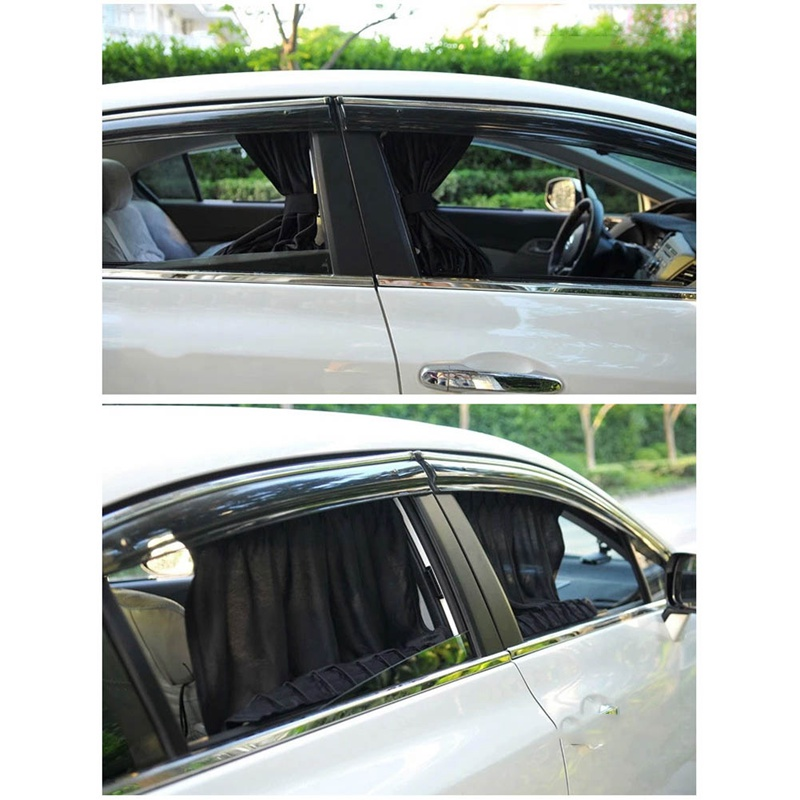 Image 5 - 2pcs/Set Universal Car Side Window Sunshade Curtains Auto Windows Curtain Sun Visor Blinds Cover Car Styling S,L Size-in Side Window Sunshades from Automobiles & Motorcycles