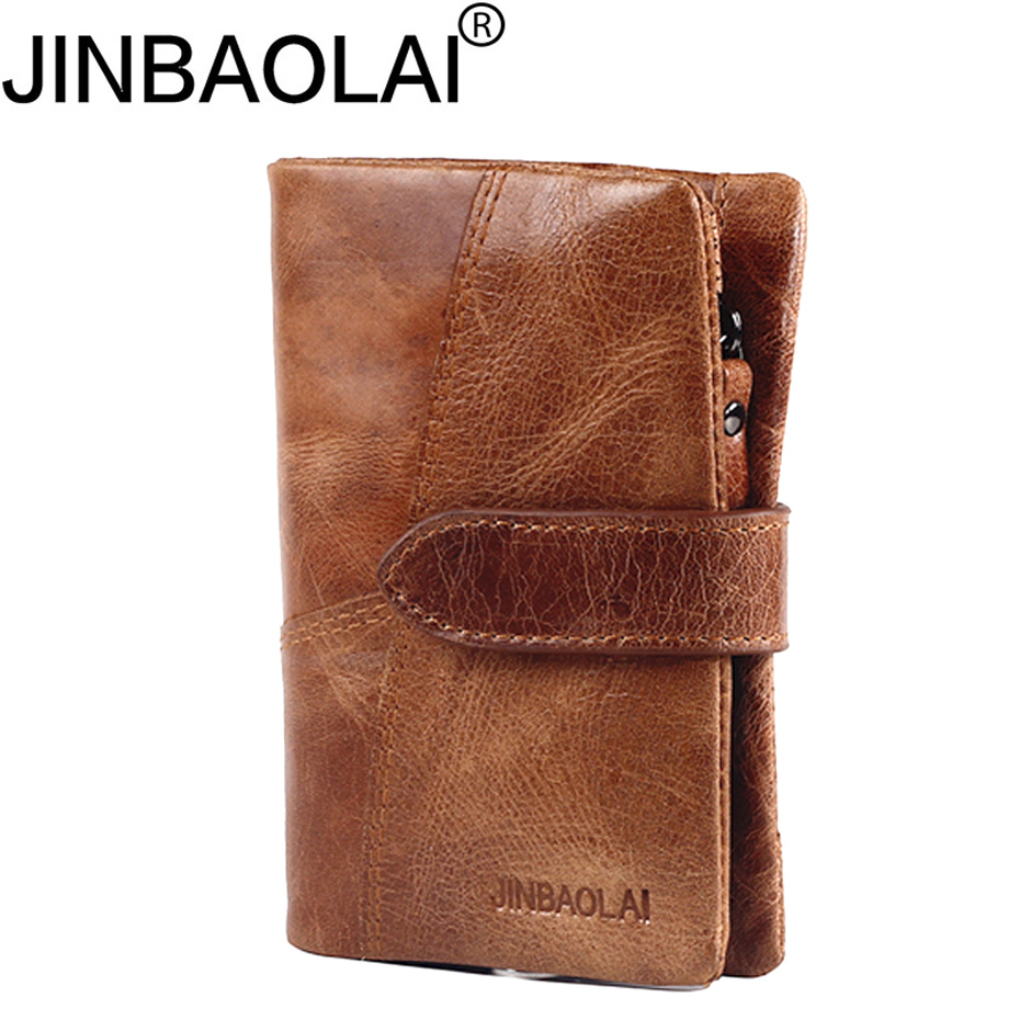 Short Vallet Small Walet Badge Business Card Holder Genuine Leather Men Wallet Male Purse Cuzdan For Money Bag Perse Portomonee