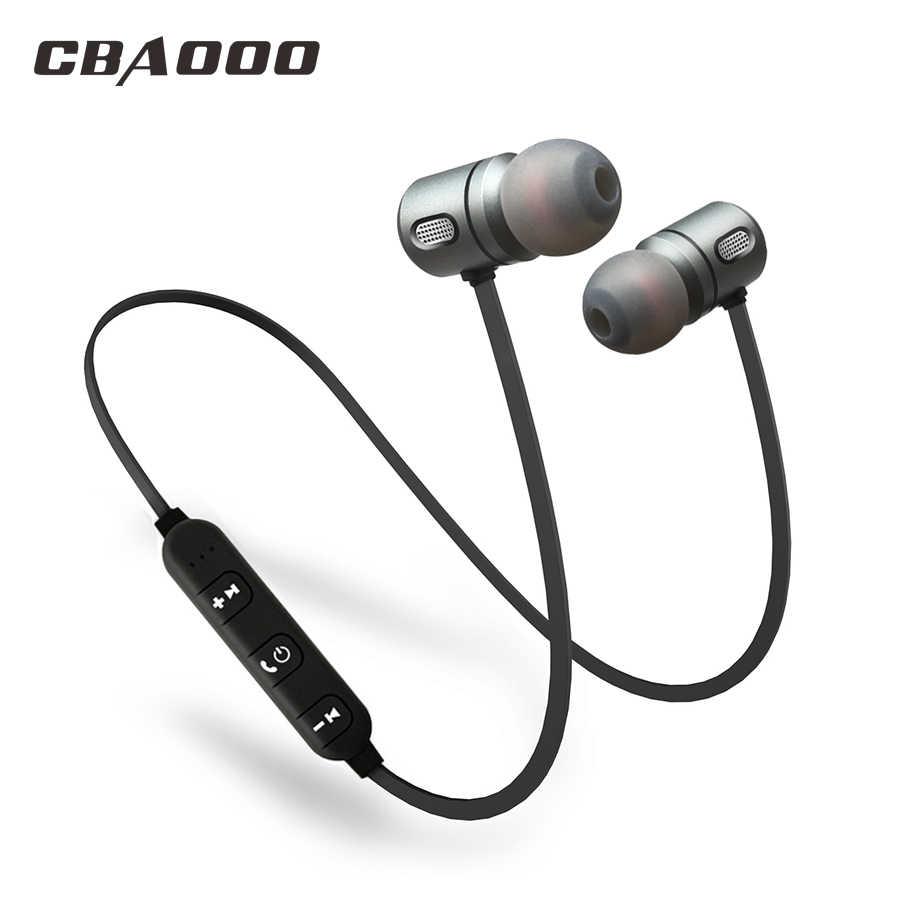 CBAOOO Спорт Bluetooth наушники беспроводной hifi Super bass стерео  гарнитура Магнитная с микрофоном для xiaomi iphone 4b7433f3ea160