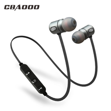 CBAOOO Sport Bluetooth Earphone Wireless hifi Super bass Stereo Headset Magnetic Earphone with Mic for xiaomi iphone