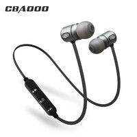 CBAOOO Sport Bluetooth Earphone Wireless Waterproof Hifi Super Bass Stereo Headset Magnetic Earphone With Mic For
