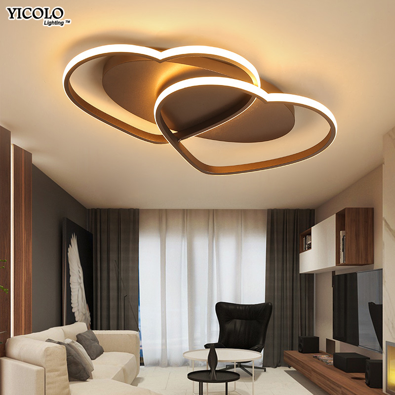 Blanc/café Finlandaise Moderne LED Plafonniers creative luminaria led teto salon enfants chambre allée Home DecorationAC85-260V