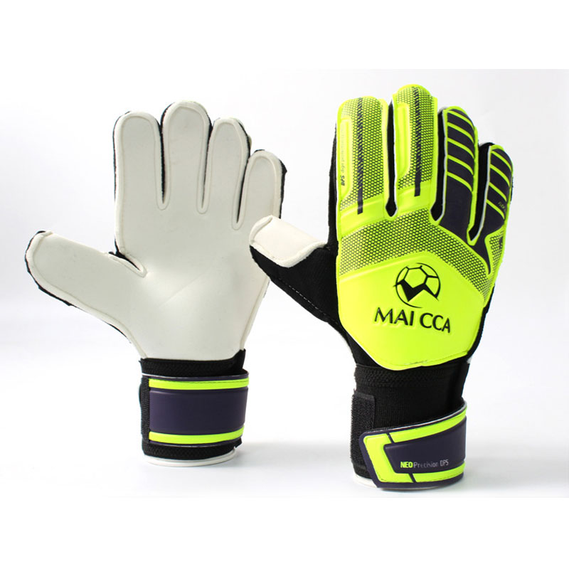 MAICCA Football goalkeeper glvoes Men and women latex finger protector  Professional Soccer goalie gloves adult training 93a958799