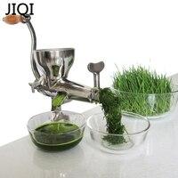 JIQI Lenta Sinfín Mano wheatgrass Exprimidor manual de Acero Inoxidable exprimidor de Frutas Vegetales naranja máquina extractora de jugo de Pasto de trigo