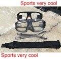 Adulto Prescrição óculos esportivos de basquete óculos para esportes eyewear lente pode colocar moypia futebol óculos de proteção com alça substituído