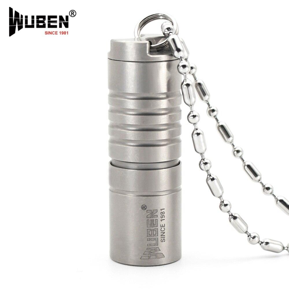 Мини светодиодный фонарик оригинальной Wuben Титан металла 130LM Фонарик светодиодный светильник с Цепочки и ожерелья Портативный Дизайн много...